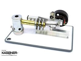 """Großer Stirlingmotor """"Magister"""" mit Generator"""