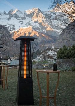 Pellets Pyramide - Outdoor - Heizstrahler - Heizpilz mit Holzpellets