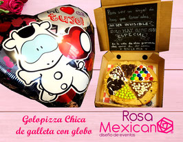 Golopizzas chicas de galleta, brownie o pastel