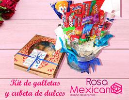 Kit para decorar galletas y cubeta de dulces