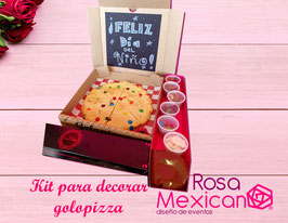 Kit para decorar golopizza con globo con mecha