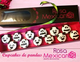 12 Cupcakes de pandas