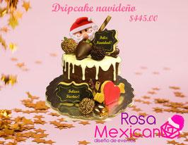 Dripcake navideño (Relleno de chocolate con chocoretas)