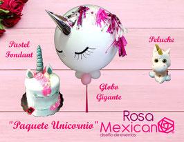 Paquete unicornio (El unicornio de peluche puede variar de modelo, comunicate a la tienda, para ver las existencias)