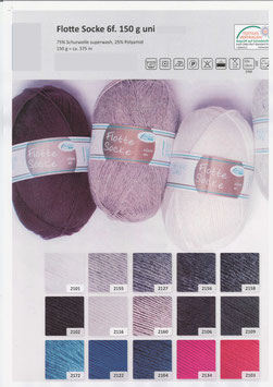 Rellana Flotte Socke 6fach uni