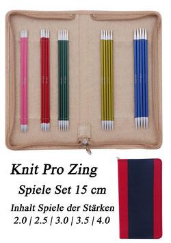 Knit Pro Zing Spiele Set 15 cm