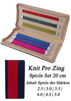 Knit Pro Zing Spiele Set 20 cm