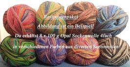 Restpostenpaket Sockenwolle 4fach 8 x 100g