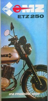 MZ Ts 125 150  &  ETZ 250 Seitenwagen   1983