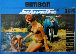 Simson Prospekt Schwalbe blau 3,6 PS KK 51/1