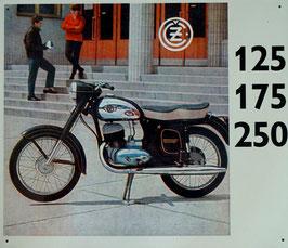 Blechschild CZ  ČZ 125  175  250 …  Nr. 1708
