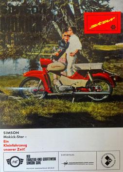 Simson Prospekt Star Mokick 3,4 PS    49,6 cm³  1966