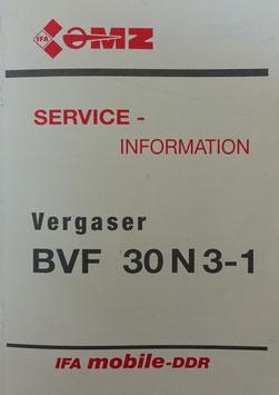 SERVICE - Information VERGASER BVF 30 N 3- 1