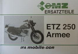 Ersatzteilkatalog MZ ETZ 250 Armee