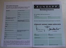 ABE Zündapp Moped Betriebserlaubnis grün / türkis Blanco Mokick 50 ccm Roller
