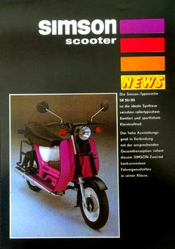 Simson Prospekt SR50 /80 scooter letzte Modelle