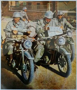 BLECHSCHILD KRADMELDER BMW NSU 2. WK Wehrmacht  Nr. 1204