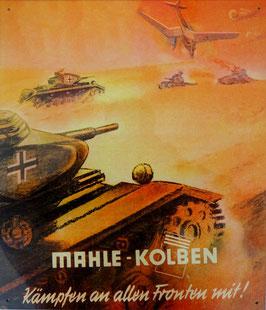 BLECHSCHILD Mahle Kolben Panzer Flieger 2. Weltkrieg  Nr. 932