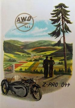 Simson Prospekt AWO 425 Touren  1953