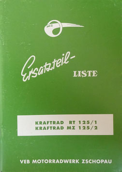 Ersatzteilliste MZ Kraftrad RT 125/1 / MZ 125/2