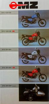 MZ  ETZ 125/150 ETZ 251/301 mit  Gespann 1991