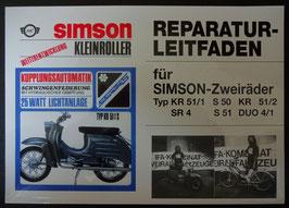 Reparaturleitfaden Simson Zweiräder DUO S50 Schwalbe Kr 51/1 51/2 SR4 Oldtimer
