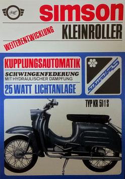 Simson Prospekt Schwalbe KR51/1S Automatik 49,6 cm³
