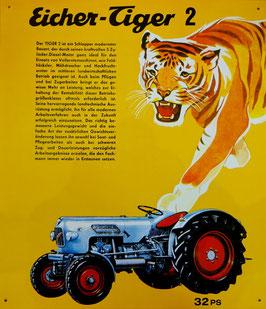 BLECHSCHILD Schlepper EICHER TIGER 2 mit 32 PS  Nr. 188