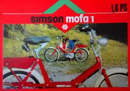Simson Prospekt Mofa SL 1 mit 1,6 PS 1970