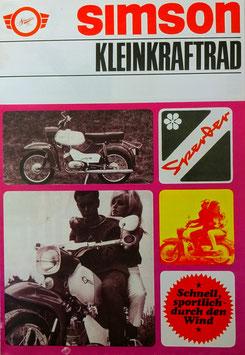 Simson Prospekt SPERBER SR4-3 Moped 4,6 PS   1968