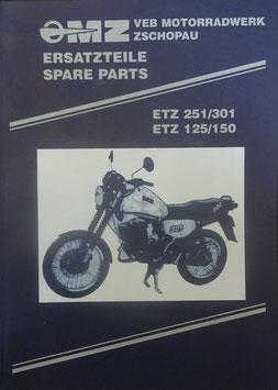 Ersatzteilkatalog Spare Parts  ETZ125, ETZ150, ETZ251/301