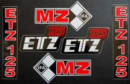 6 teileger Aufklebersatz MZ ETZ 125