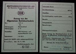 S 51 ABE Simson Betriebserlaubnis  im DDR Stil SIMME