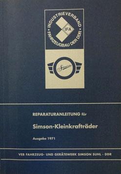 Reparaturanleitung Simson-Kleinkrafträder Schwalbe Spatz Star Sperber inkl. Stromlaufplan