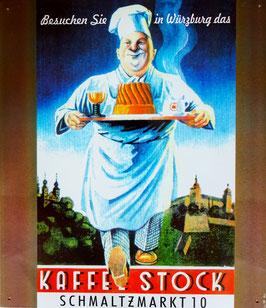 BLECHSCHILD KAFFEE STOCK WÜRZBURG  Nr. 911