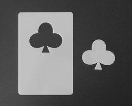 KREUZ Kartenspiel Hippen Schablone, Motiv Größe H 6 X 6,6 cm