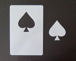 PIK Kartenspiel Hippen Schablone, Motiv Größe H 7 X 6 cm