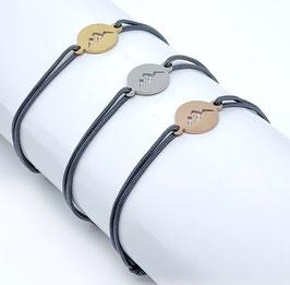 Bergliebe Armband -dunkelgrau-