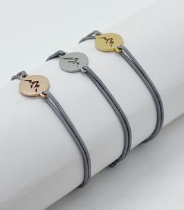 Bergliebe Armband -hellgrau-
