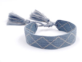 Stoff Armband taubenblau