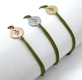 Bergliebe Armband -oliv-