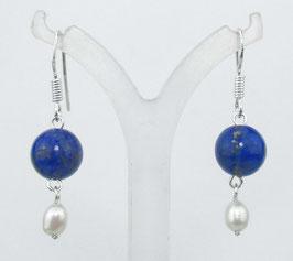 Lapis-01 Perle Ohrring