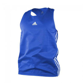adidas Boxing Top Punch Line/blau,weiß