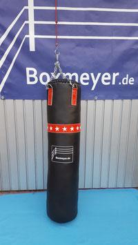 Modell 'Punch Kunstleder' Boxsack schwarz/rot/weiß 130cm/30cm