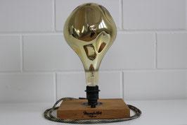 Tischlampe Eiche massiv, inklusive abgebildetem Leuchtmittel EVO Champagne