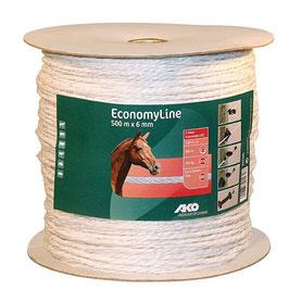EconomyLine, Seil, 500m, 6mm, weiß, 6 x 0,2mm Niro