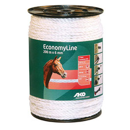 EconomyLine, Seil, 200m, 6mm, weiß, 6 x 0,2mm Niro