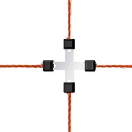 Litzclip Litzen-Kreuzverbinder 3mm, verzinkt, 5 Stück AUSVERKAUF