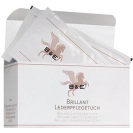 B&E Brillant Lederpflegetücher - 12 Stück