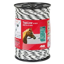 TopLine Plus, Seil, 200m, 6mm, weiß/schwarz, 6 x 0,25mm TriCOND